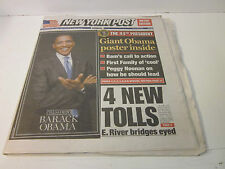 New York Post~ The 44th President - Barack Obama ~ Sunday, November 9, 2008