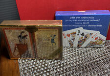 Two Sets of Golf-Themed Playing Cards - 4 decks - Platnik and Congress; New