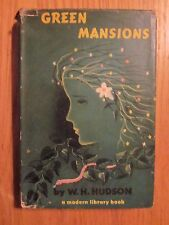 1944 Green Mansions hardcover w/ Dust Cover book by W.H. Hudson