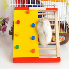 Wooden Hamster Climbing Ladder Colorful Rat Climbling Toy Small Pet Climbing Toy