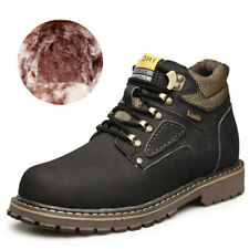 Genuine Leather Winter Footwear Men Plush Warm Outdoor Snow Boots Military Shoes