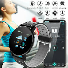 Bluetooth Smart Watch Heart Rate Blood Pressure Monitor Fitness Tracker 119-Plus