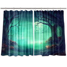 Halloween Background Kitchen Curtains 2 Panel Set Decor Window Drapes 55 X 39""