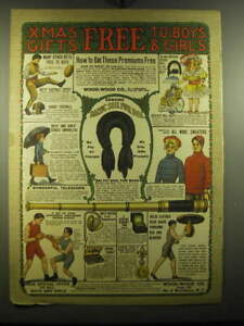 1905 Wood-Wood Co. Advertisement - Boys' Football Outfit, Rugby Football, Doll