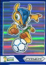 Panini Prizm Copa del Mundo 2014 Fuleco Mascota Azul Prizm #1 Fuleco ***