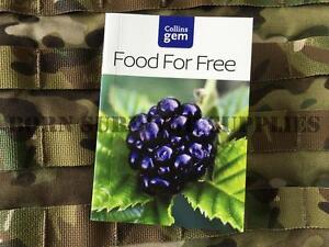 FOOD FOR FREE - New Collins Gem Survival & Bushcraft Pocket Book Foraging Guide