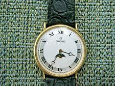 Concord Moon Phase 14k Yellow Gold Ultra Thin 32mm Quartz Dress Watch