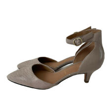 Clarks Nude Blush Leather Heels Nude Elegant Classic Ladylike UK 4 E Wide Fit
