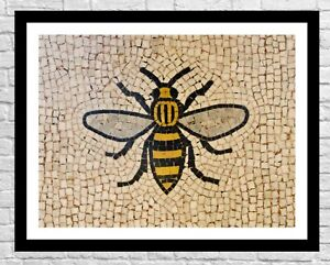 Manchester Bee Wall Decor | Manchester Art Print | Mancunian Gifts