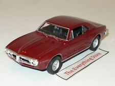 WELLY 67 PONTIAC FIREBIRD 400 4.75 INCHES LONG DARK RED NO BOX FREE SHIP