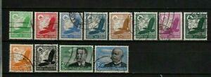 LOT  GERMANY AIRMAIL 1934 : FULL SET(12) USED ZEPPELIN : START $ 1.00
