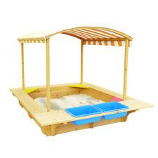 Lifespan Kids Wooden sandpit with canopy Outdoor Toys demo Playfort Sandpit