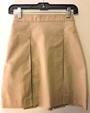 """Flynn O'Hara� 4 Kick Pleated Khaki Skirt Girls School Uniform ~ Size 10X ~ New!"