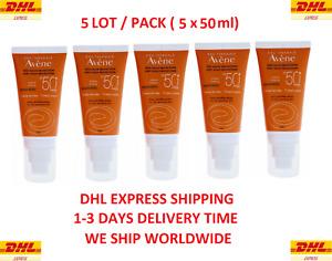 5 PACK Avene SUN CARE Cream TINTED Sunscreen SPF50+, 50ml, 1.7oz