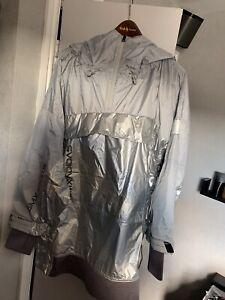 ADIDAS BY STELLA MCCARTNEY PULL-ON JACKET Metallic Silver Size S FU0272