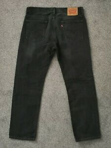 Mens Levis 514 Straight Leg Black Wash Jeans - W33 L30