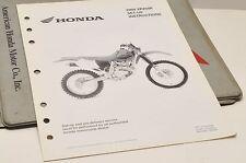 2004 XR250R XR250 R GENUINE Honda Factory SETUP INSTRUCTIONS PDI MANUAL S0209