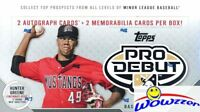 2018 Topps Pro Debut Baseball Factory Sealed HOBBY Box-4 AUTOS/RELICS+192 Cards