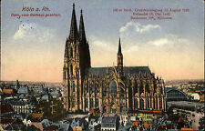 1917 Stempel Cöln auf Feldpostkarte Partie am Dom Feldpost nach Lindental gel.