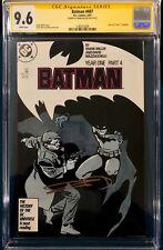FRANK MILLER SIGNED Batman Year One Part 4 #407 CGC 9.6 COMIC BOOK Not CBCS