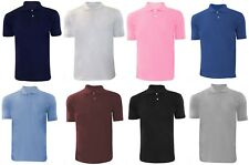 New Men's Plain Polycotton Pique Golf Collar Casual Polo T Shirt Top