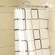 Practical Thickened Shower Curtain Stainless Steel Durable Bath Curtains Set New