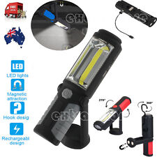 Rechargeable COB LED Hand Torch Lamp Magnetic Inspection Work Light Flexible AU