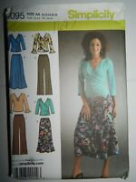Pants Skirt Knit Top Sewing Pattern Size 10 12 14 16 18 Simplicity 4095 UC FF