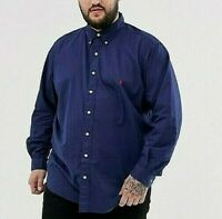 Polo Ralph Lauren Big & Tall Chino Woven Button Down Shirt 3XLT Newport Navy NWT