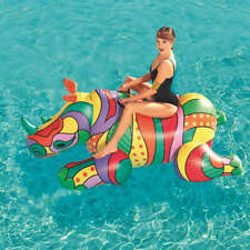 Bestway Inflatable Pool Float POP Rhino Swimming Floating Ride-on Lounger Mat