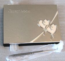 Lenox True Love Guestbook With Pen Silverplate Wedding Shower