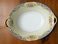 "Vintage Noritake M 10"" Oval Vegetable Dish, Floral pattern w.gold trim"