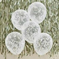 Hey Baby Confetti Balloons Shower Decorations White Botanical Mum To Be