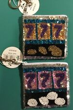 Slot Machine Beaded Coin Change Purse Las Vegas Casino Lot Of 2 Made In India