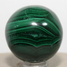 35mm Malachite Sphere Banded Natural Green Crystal Polished Stone Ball - Congo