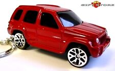 RARE KEY CHAIN RING FLAME RED JEEP LIBERTY 4X4 BRAND NEW CUSTOM LIMITED EDITION