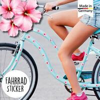 Fahrradaufkleber 35 Hibiskus Blüten Blume Fahrrad Sticker Rosa Kinderfahrrad