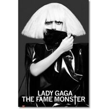 Lady Gaga - The Fame Monster white hair POSTER 61x91cm NEW