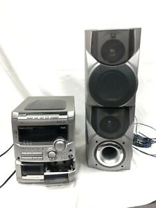 Aiwa Stereo System 3 Disc Casette Karaoke CX-NA777 with speakers