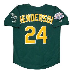 Rickey Henderson Oakland Athletics 1989 World Series Alt Green Men's Jersey