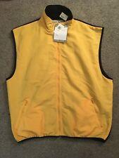 NWT Vintage North Cape Yellow Polar Fleece Vest By M.E.. Sport Size XL