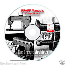 Pfaff Sewing Machine Instruction Books, Service Manuals 230, 332, 260 + Cd F11