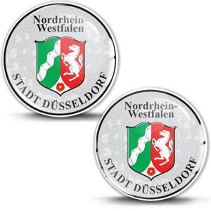 3D Gel Domed Sticker Badge Nordrhein-Westfalen Stadt German Number Plate Seal