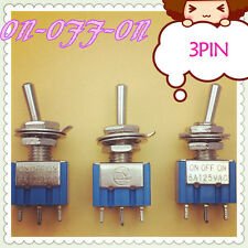 3pcs/lot Mini MTS-103 3-Pin G106 ON-OFF-ON 6A 125V 3A250VAC Toggle Switches