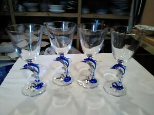 DOLPHY BLUE by CRIS D ARQUES/DURAND set of 4 bin 1108