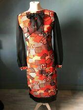 Robe de soirée rétro vintage 1970's, en lamé, travail de couturière
