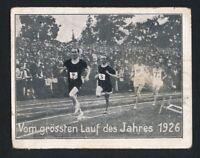 1926 Greiling PAAVO NURMI RC Leichtathletik Card #50 ROOKIE Large Olympics Track