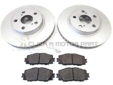 FRONT 2 BRAKE DISCS & PADS FOR TOYOTA PRIUS 1.8 HYBRID 2009-2015