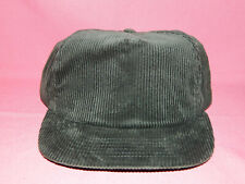 BLACK CORDUROY Baseball Cap / Hat - Adjustable One Size Fits All - NOS