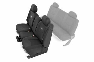 Rough Country GM Neoprene Front Seat Cover | Black [99-06 1500]